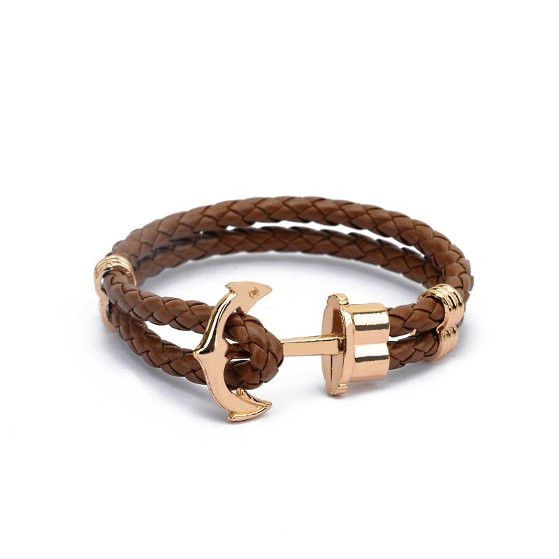 Mens Anchor Bracelet