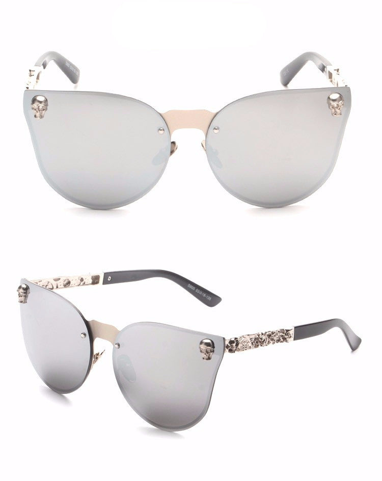 Skull Vintage Cat Eye Sunglasses