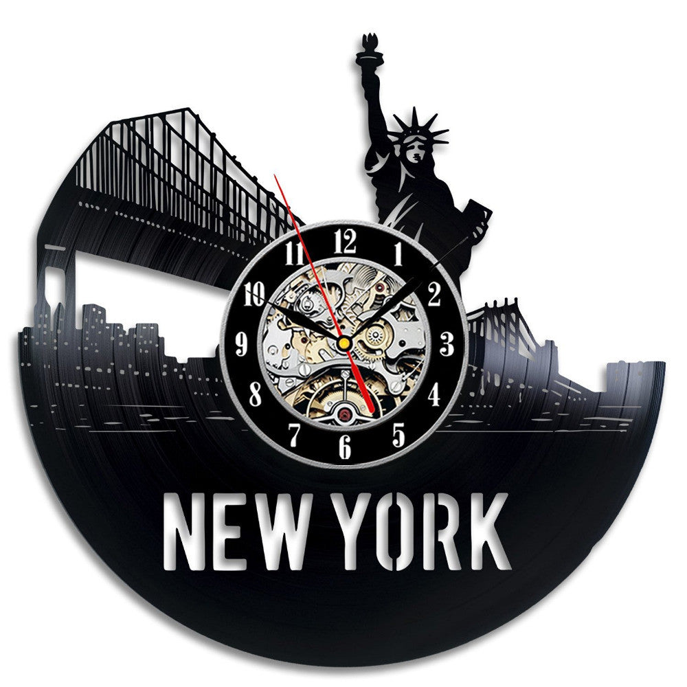 New York Vinyl Clock