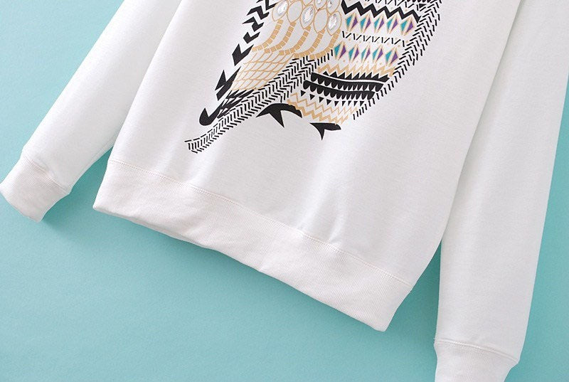 White Owl Sweater