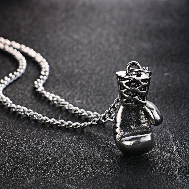 Mens Boxing Glove Necklace