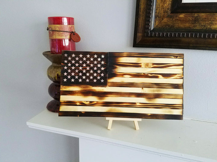 Old Glory Flag - Distressed Small – R+S Wooden Creations