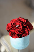Red Real Roses That Last A Year in a Signature Velvet  Box - K-BLOOMING FLOWERS
