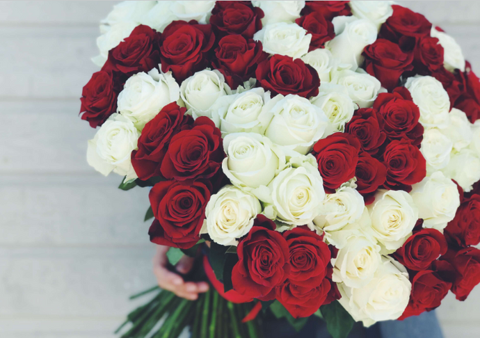 100 roses bouquet - K-BLOOMING FLOWERS