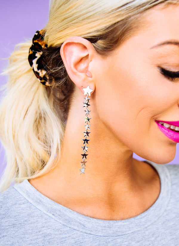 Dream Girl Silver Drop Earrings