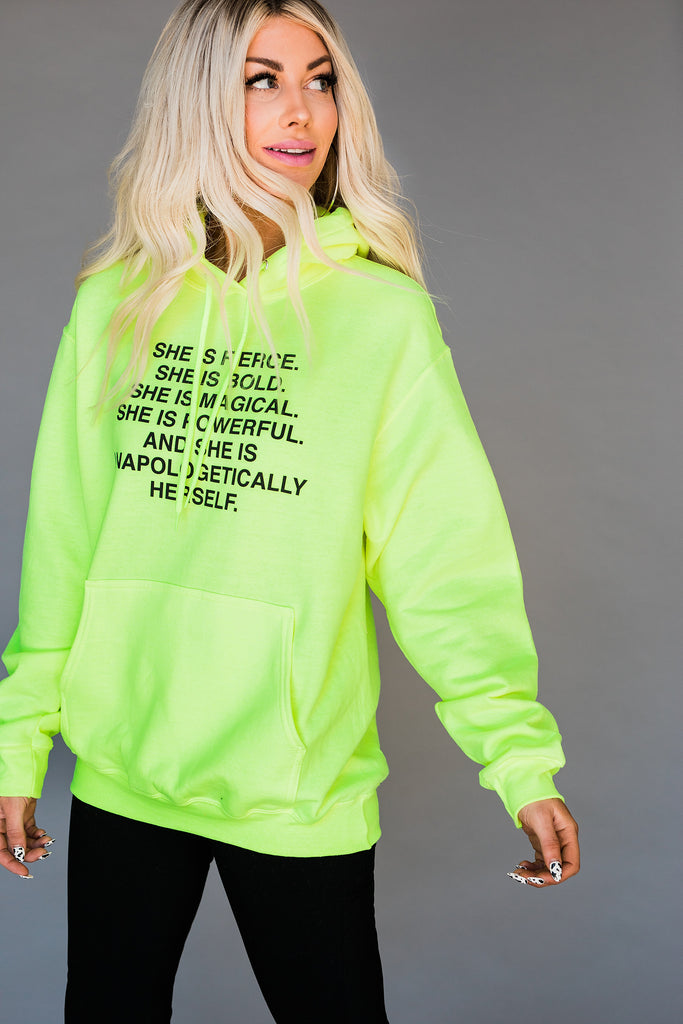 LALA Mantra Exclusive Neon Hoodie