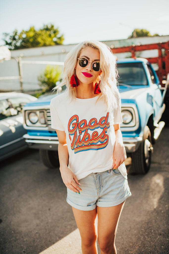 Good Vibes Forever White Tee