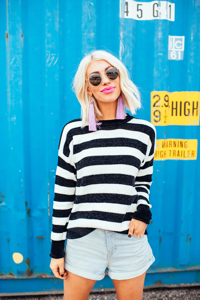 Raddest Knit Striped Sweater