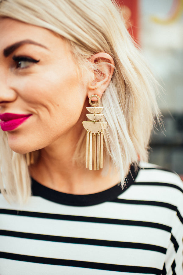 Golden Geo Earrings