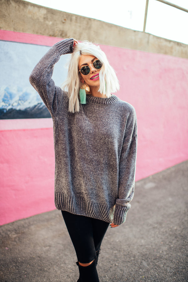 Lennon Knit Sweater (Grey)