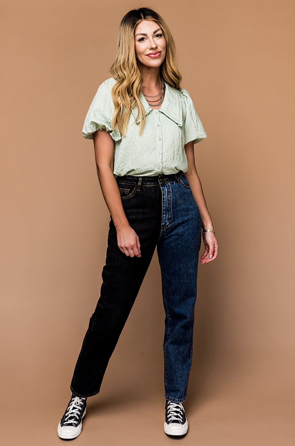 Best Girl Half and Half Mom Jeans