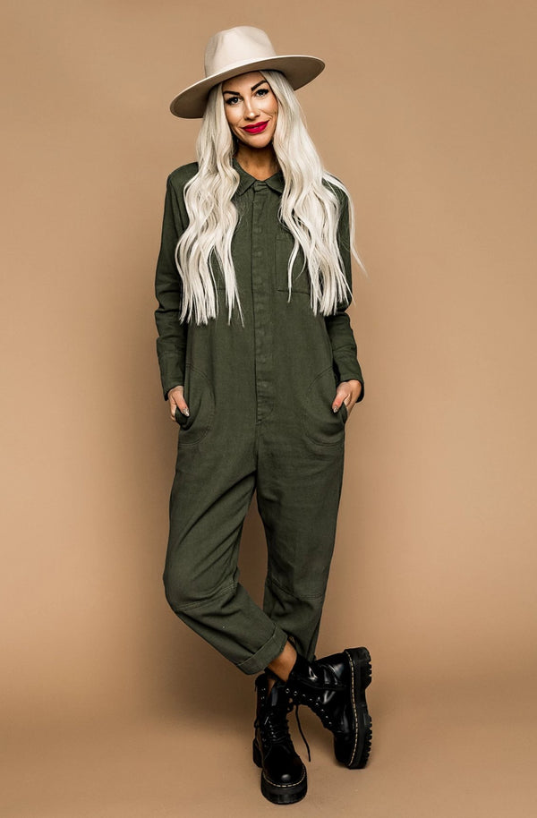 Lucia Jumpsuit in Olive