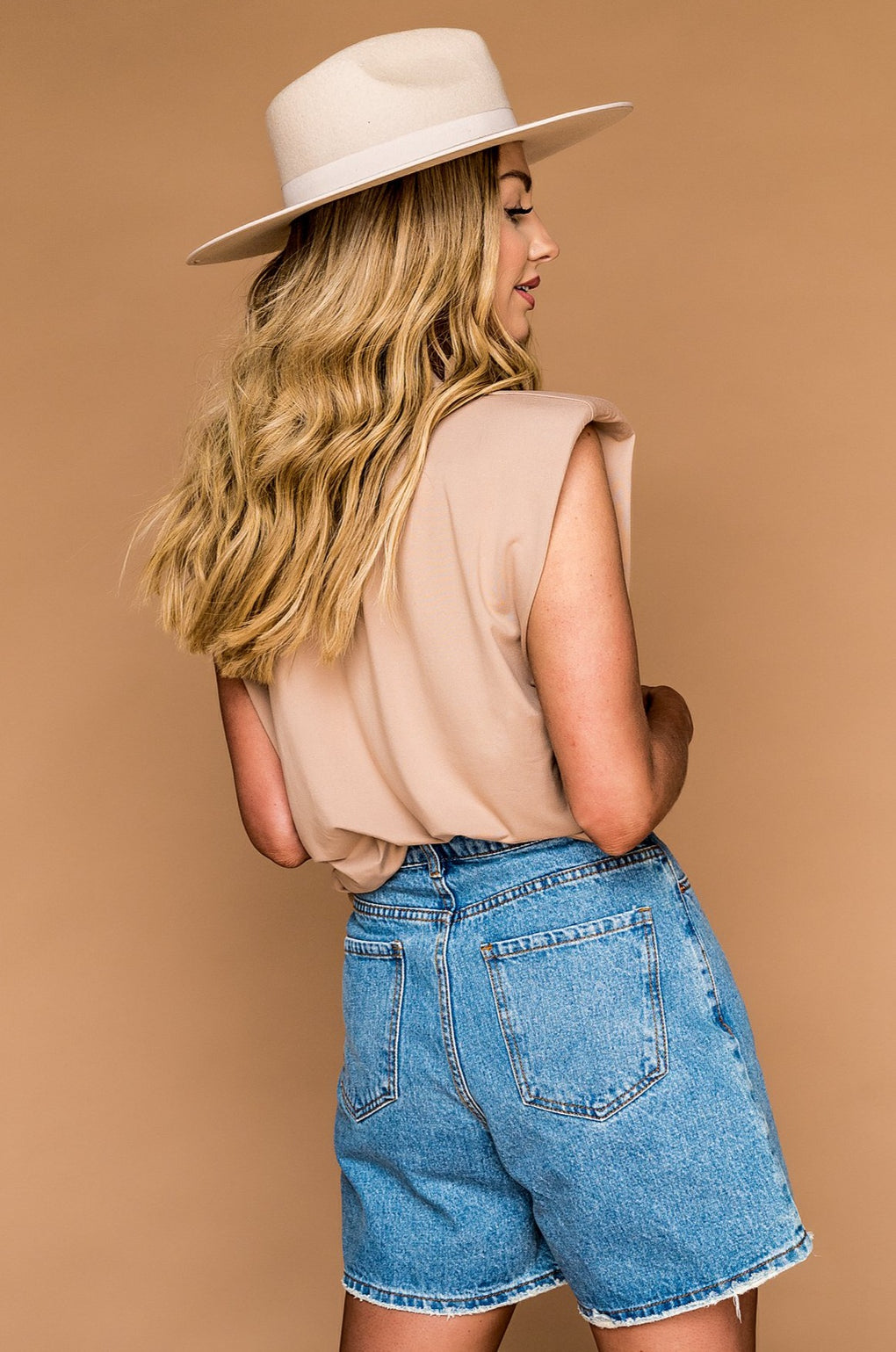 Better Off Denim Mom Shorts
