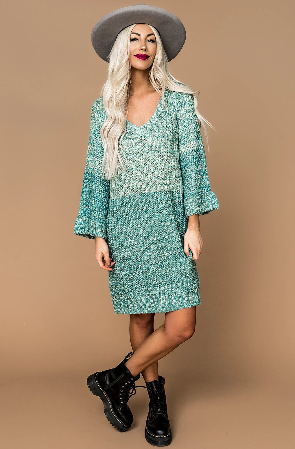 Happy Days Knit Sweater Dress