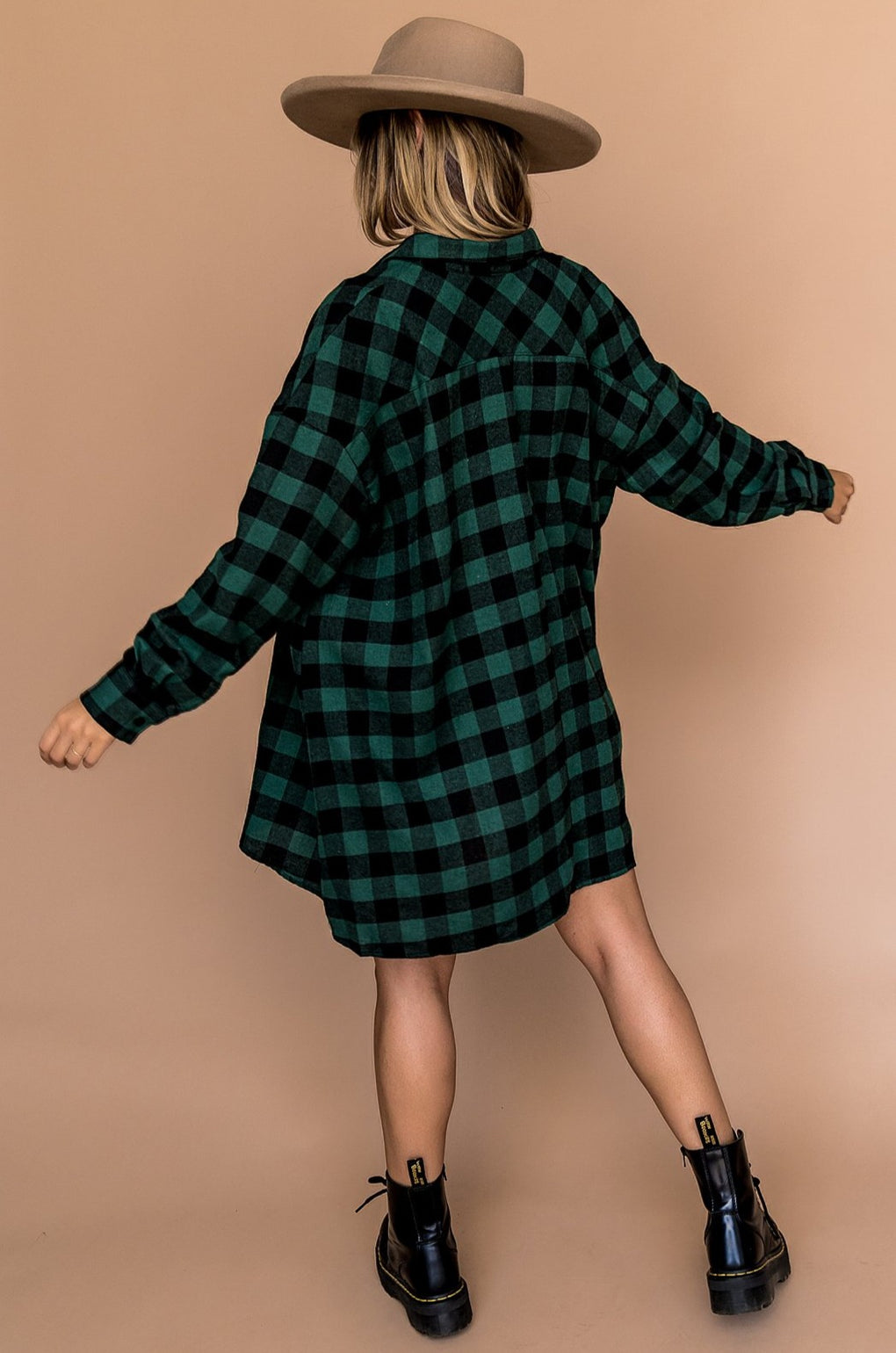 Lou Flannel in Emerald