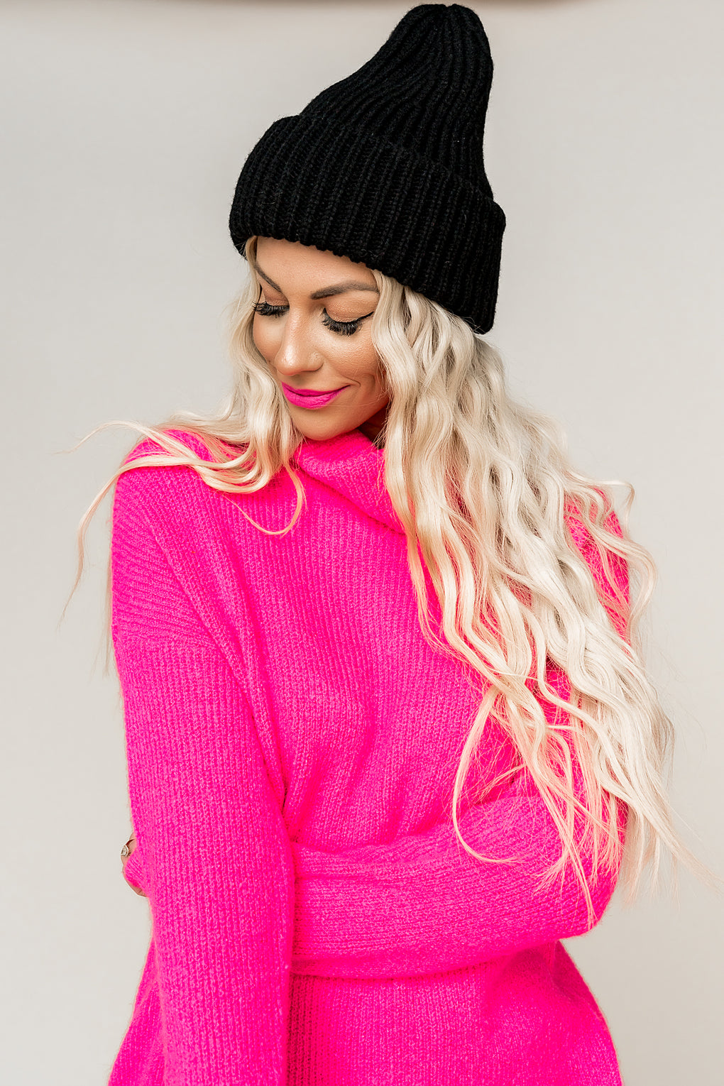 Rosy Cheeks Turtleneck Knit