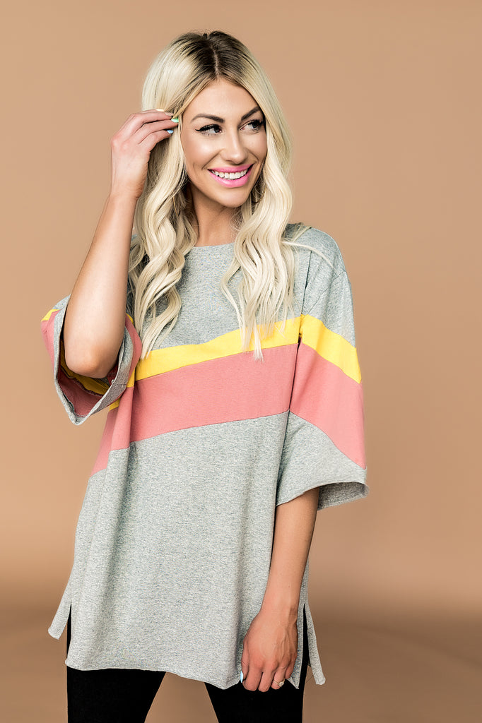 Sunset Boulevard Top in Grey