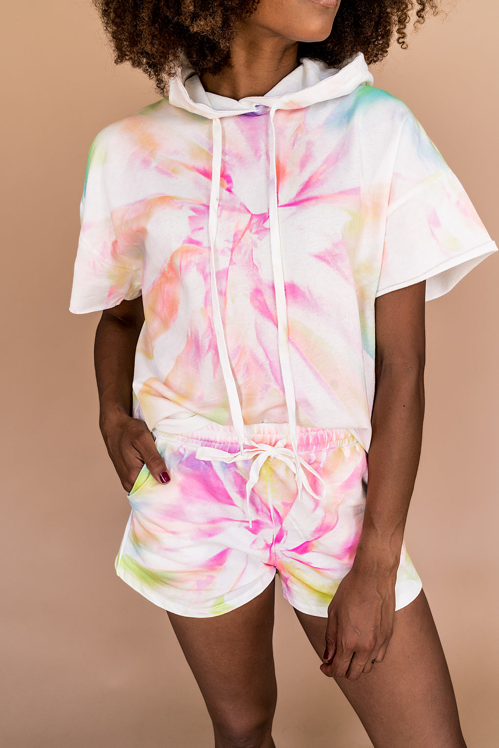 Happy Happy Neon Tie Dye Matching Set