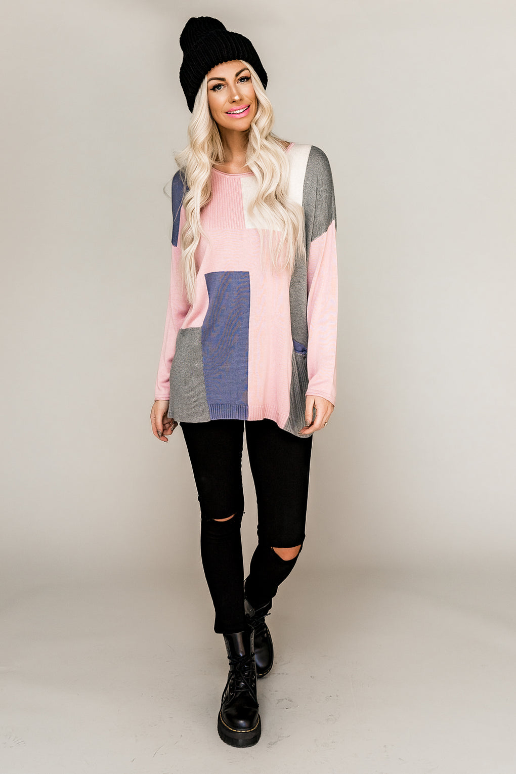 Mi Amor Colorblock Sweater