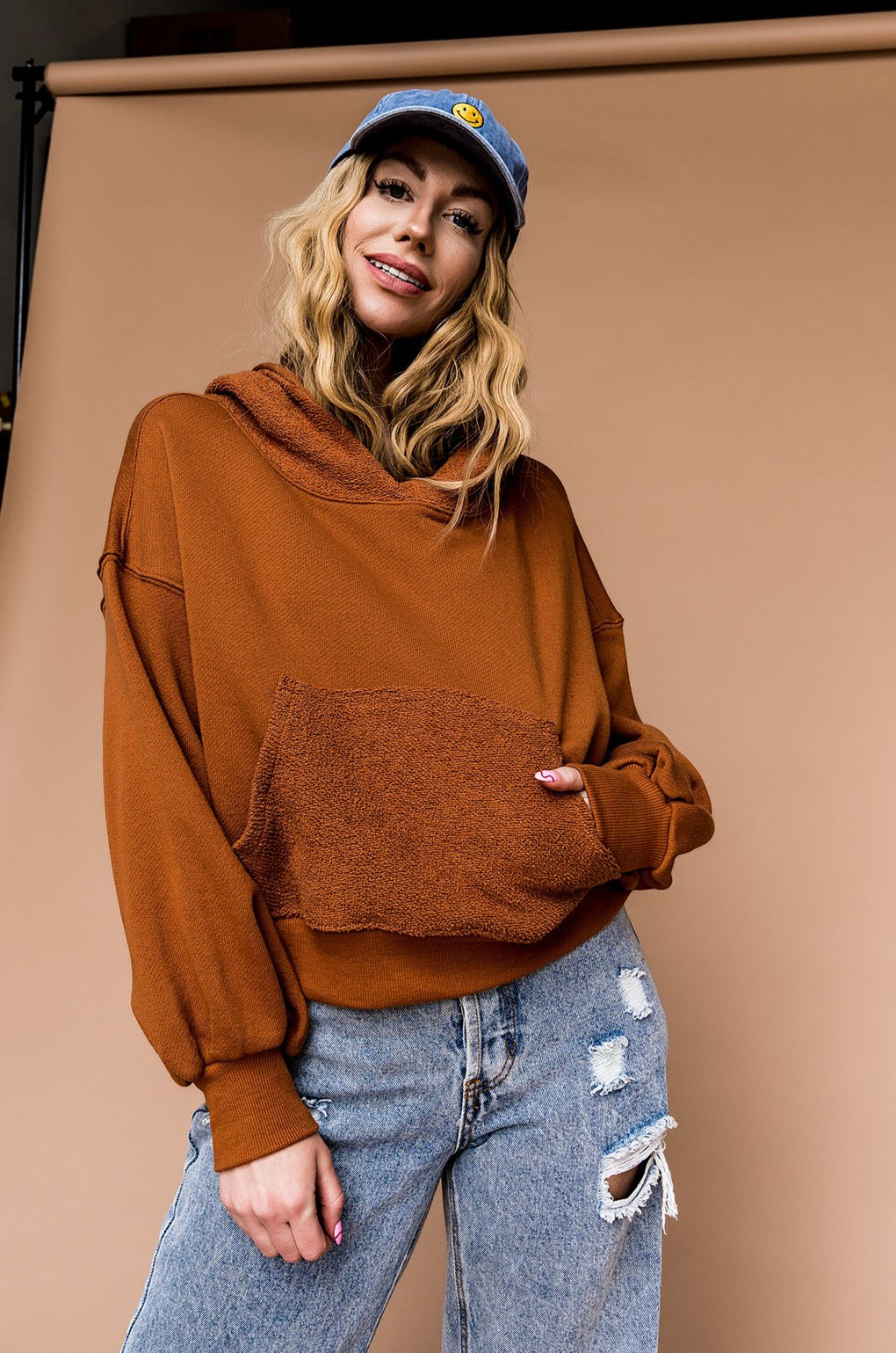 Wild Canyons Cropped Hoodie in Sedona