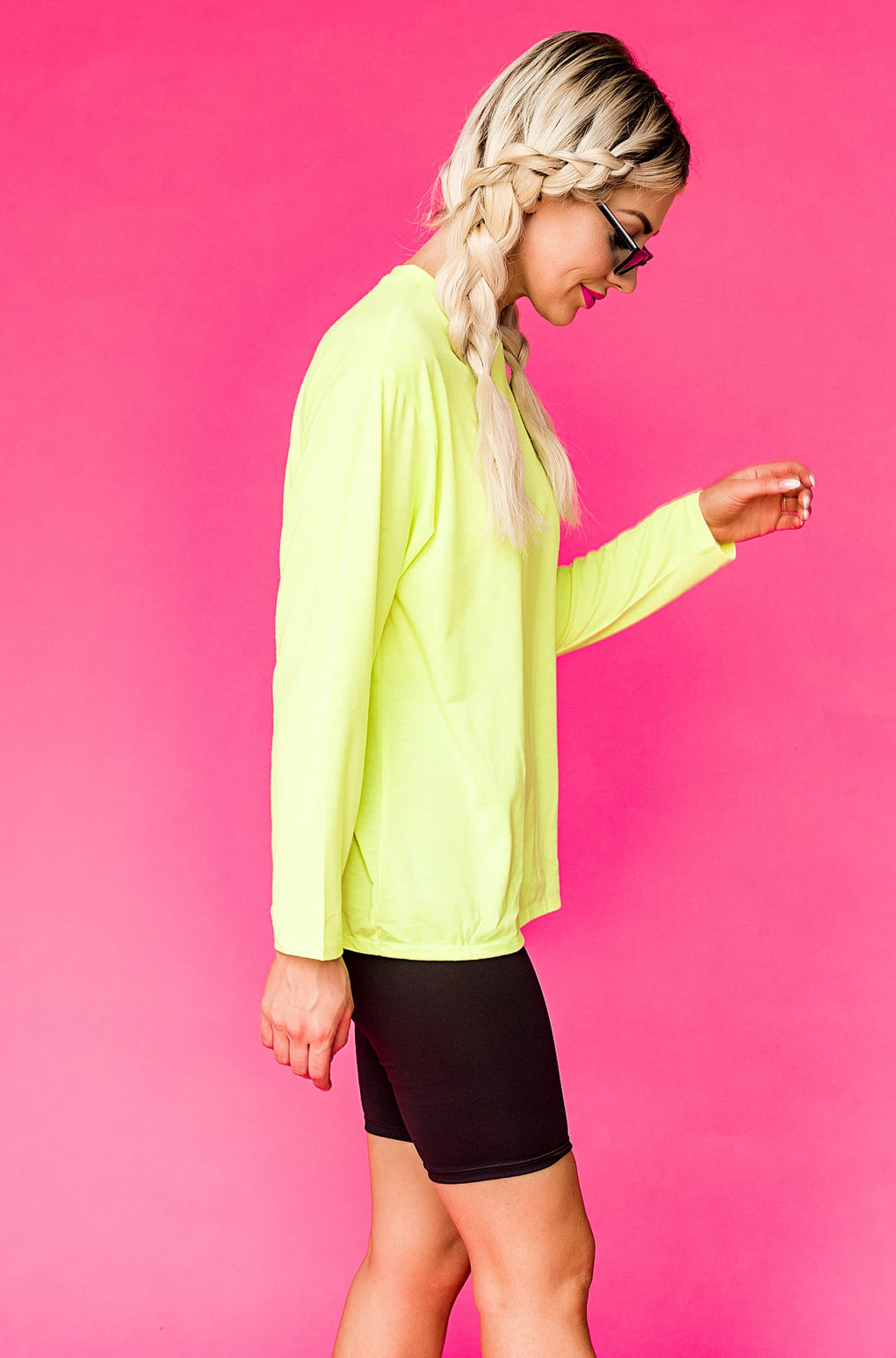 Kourtney Neon Long Sleeve Top