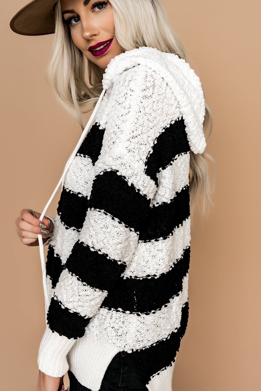 Perfect Day Popcorn Knit Hoodie