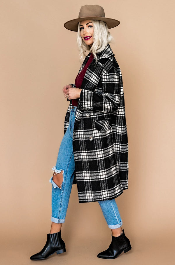 Upper West Side Plaid Coat