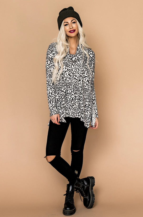 Born This Way Leopard Turtleneck