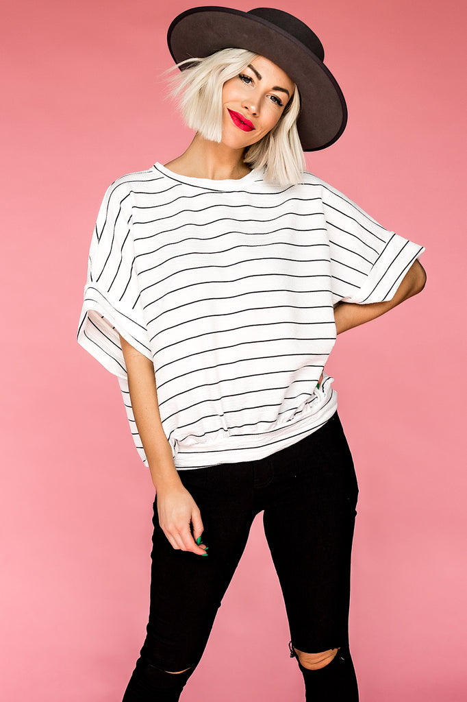 Charlie Striped Short Sleeve Pullover