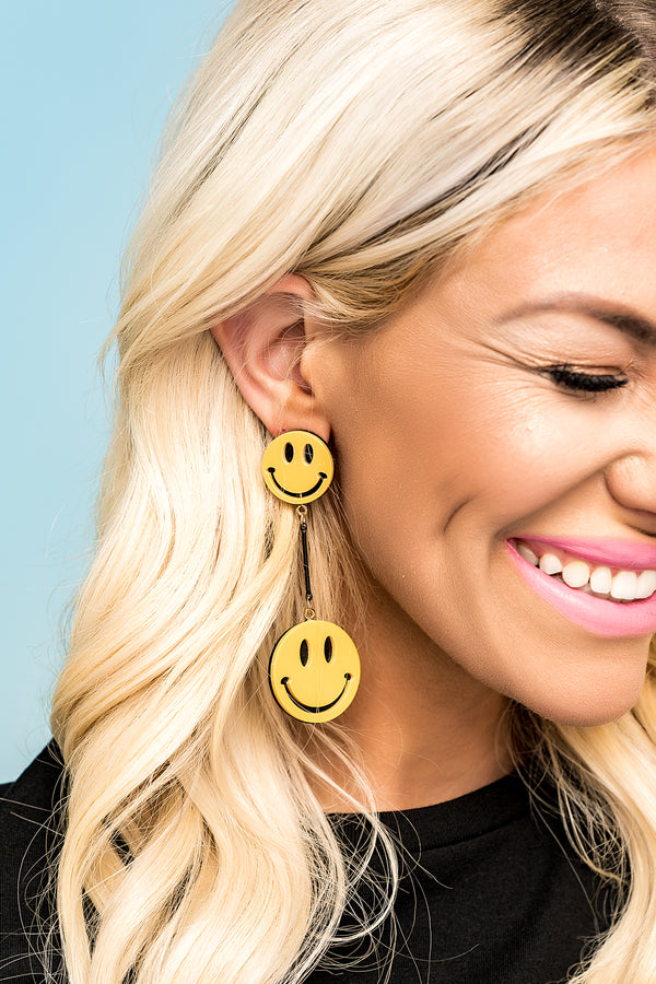 Smiley Drop Earrings