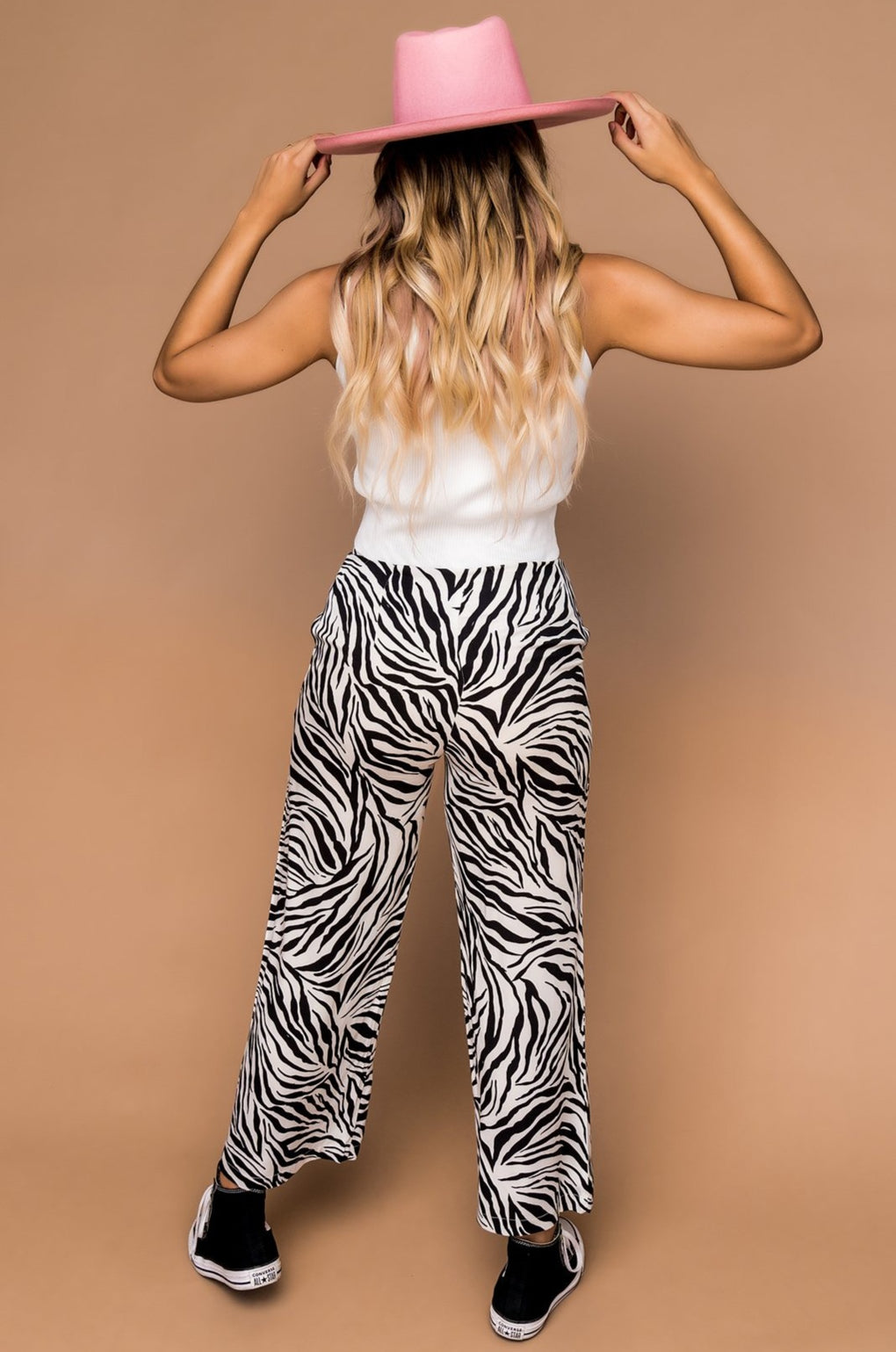 Bossy Wide Leg Zebra Pants