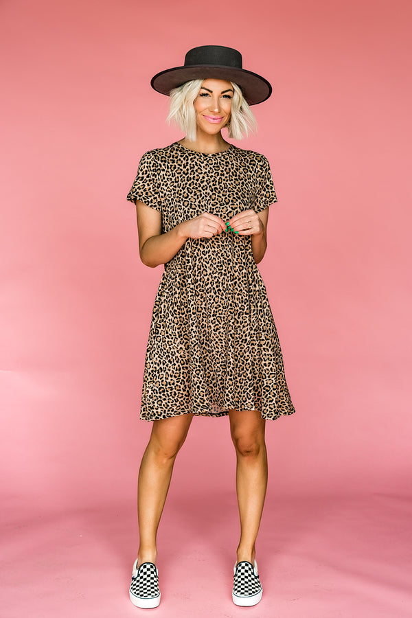 Leopard Luxe Swing Dress