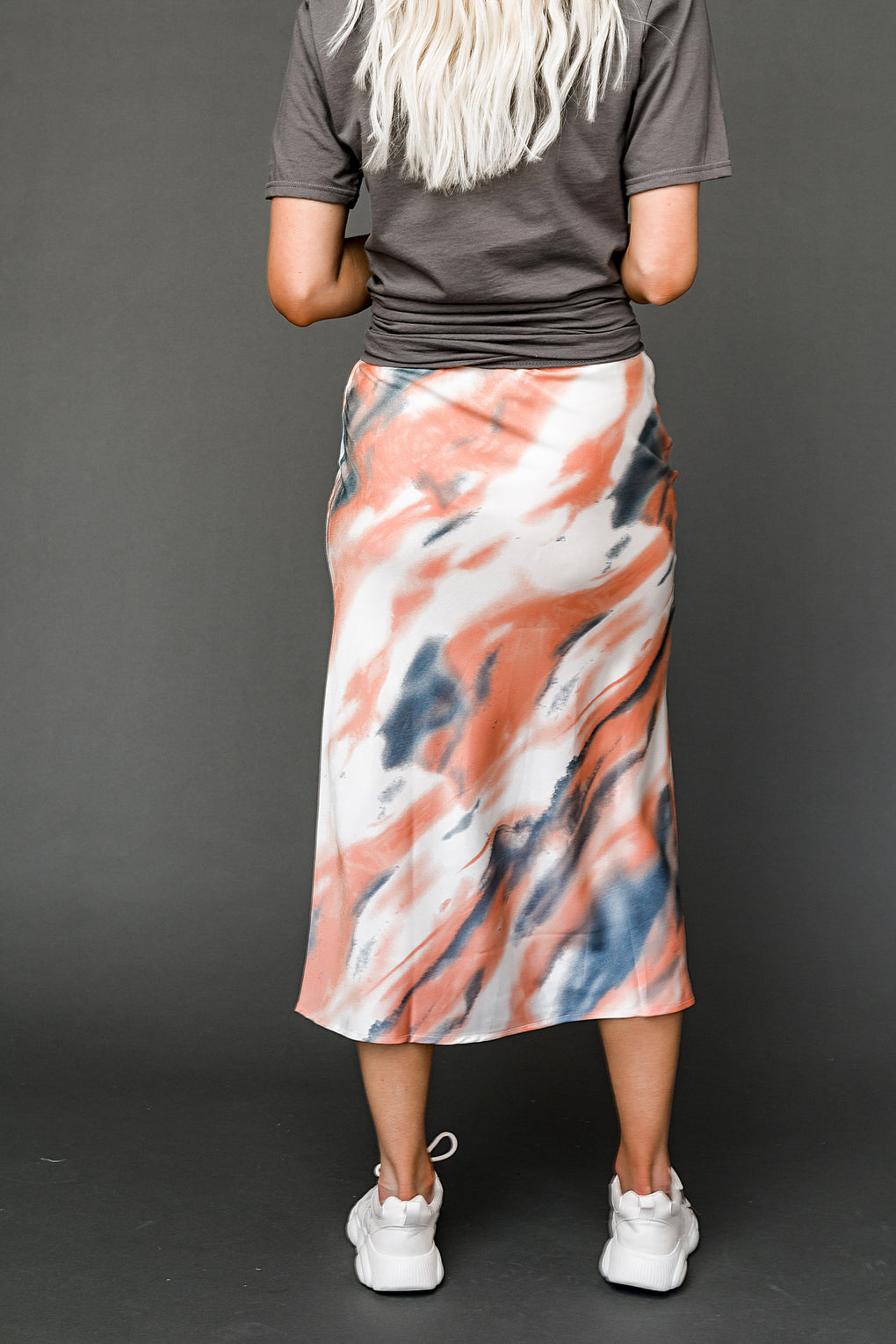 Moody Skies Satin Skirt