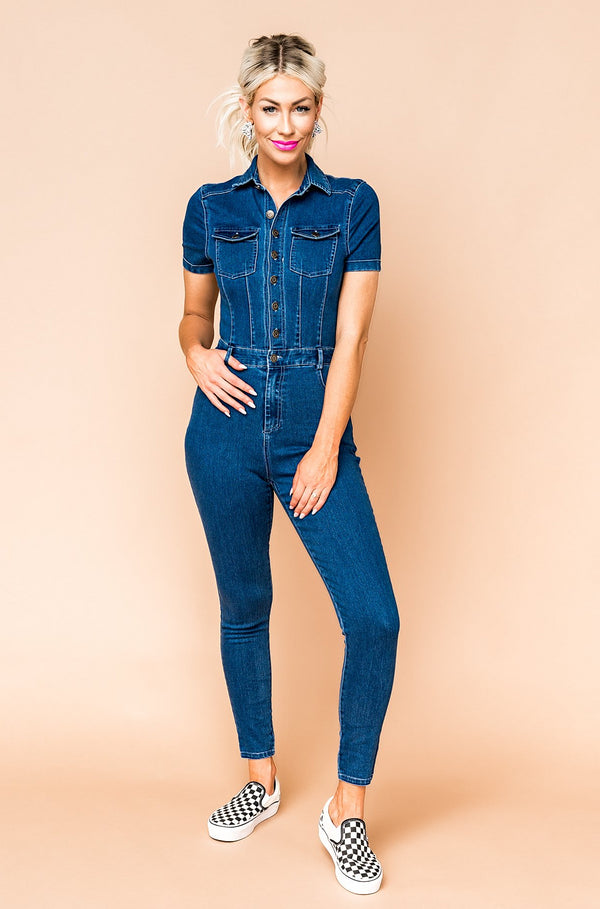It Girl Denim Jumpsuit