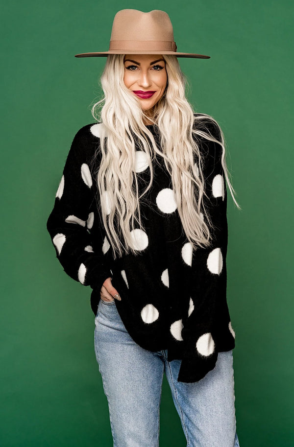 Constellations Polka Dot Sweater