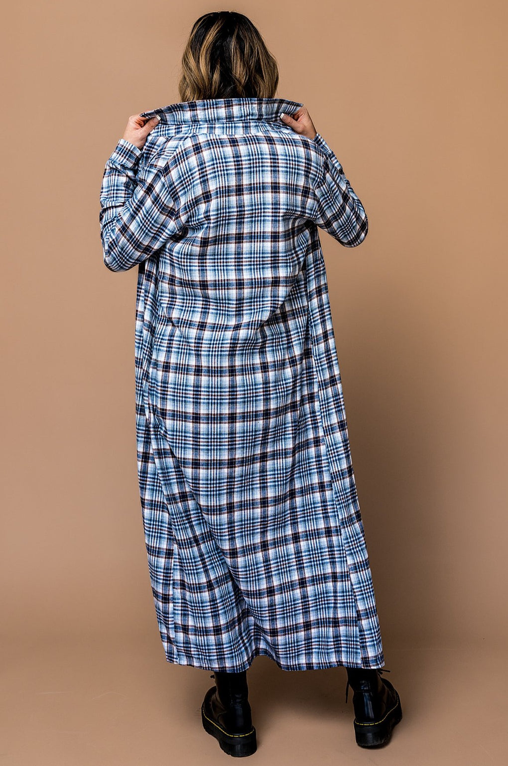 Southbound Longline Plaid Duster