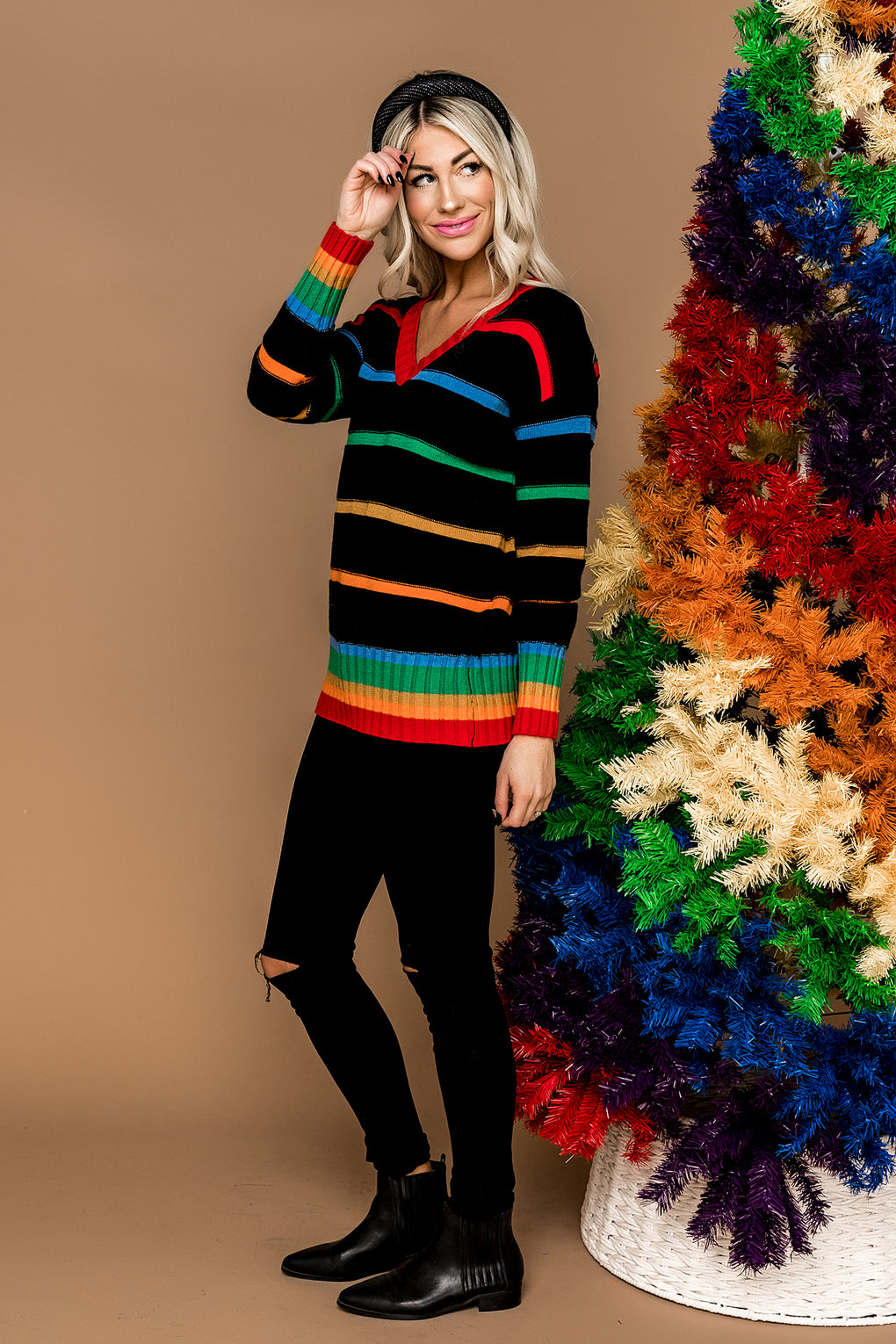 In Flow Rainbow Sweater