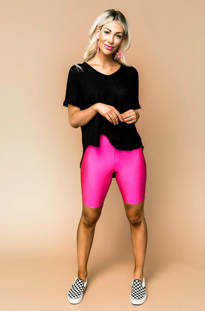 Hot Pink Barbie Biker Shorts