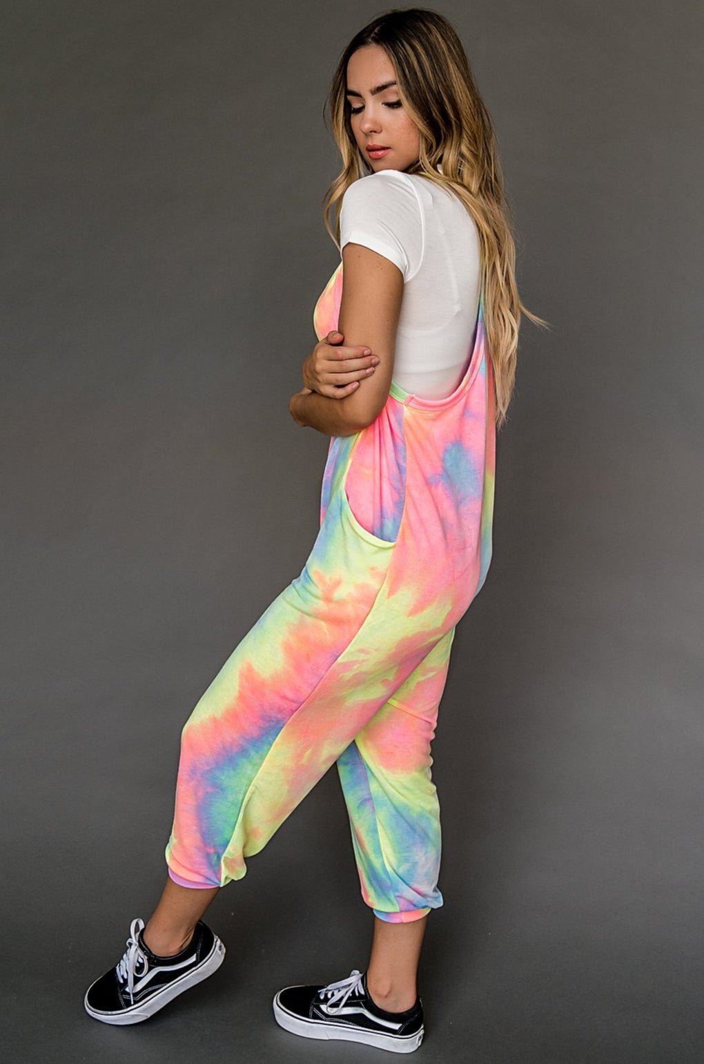 Catching Feels Jumper in Neon Tie Dye