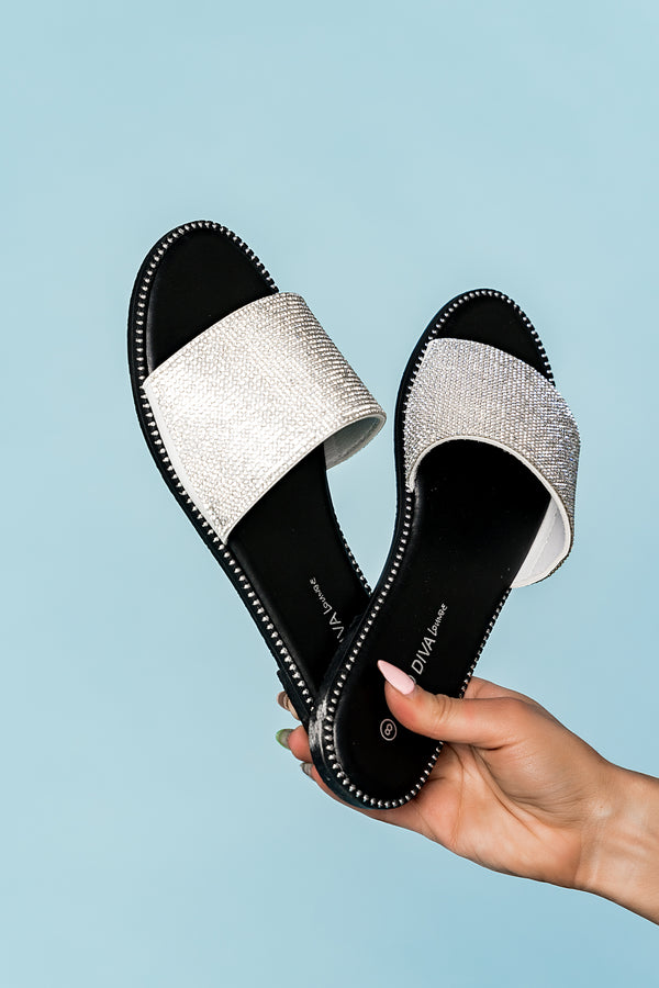 Disco Studded Slides