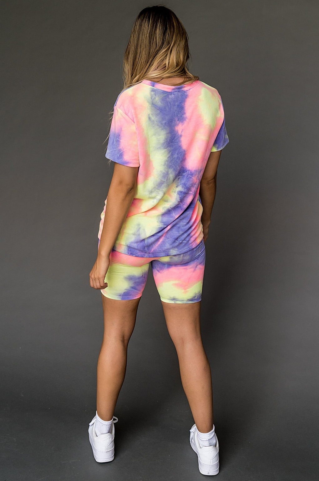 Lollipop Tie Dye Biker Set