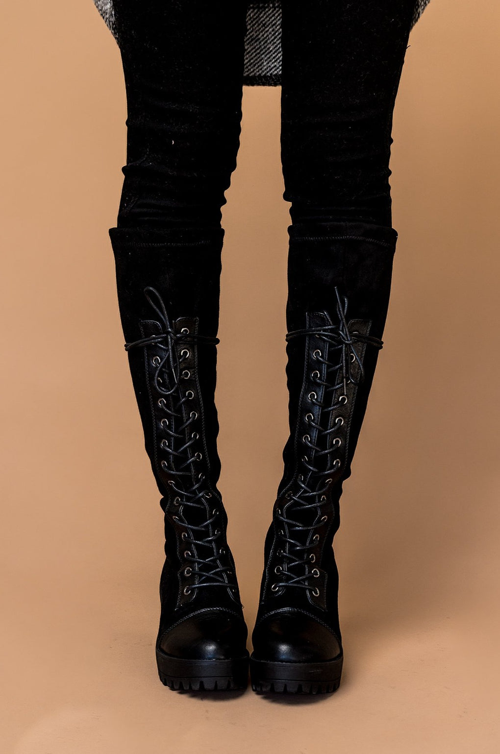 Ready Or Not Chunky Lace-Up Boots