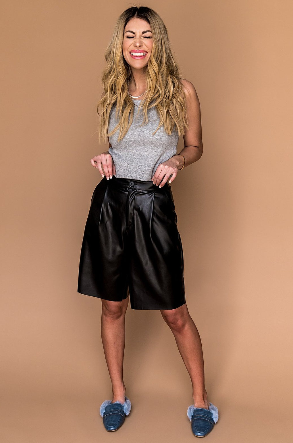 Excuse Me Vegan Leather Shorts