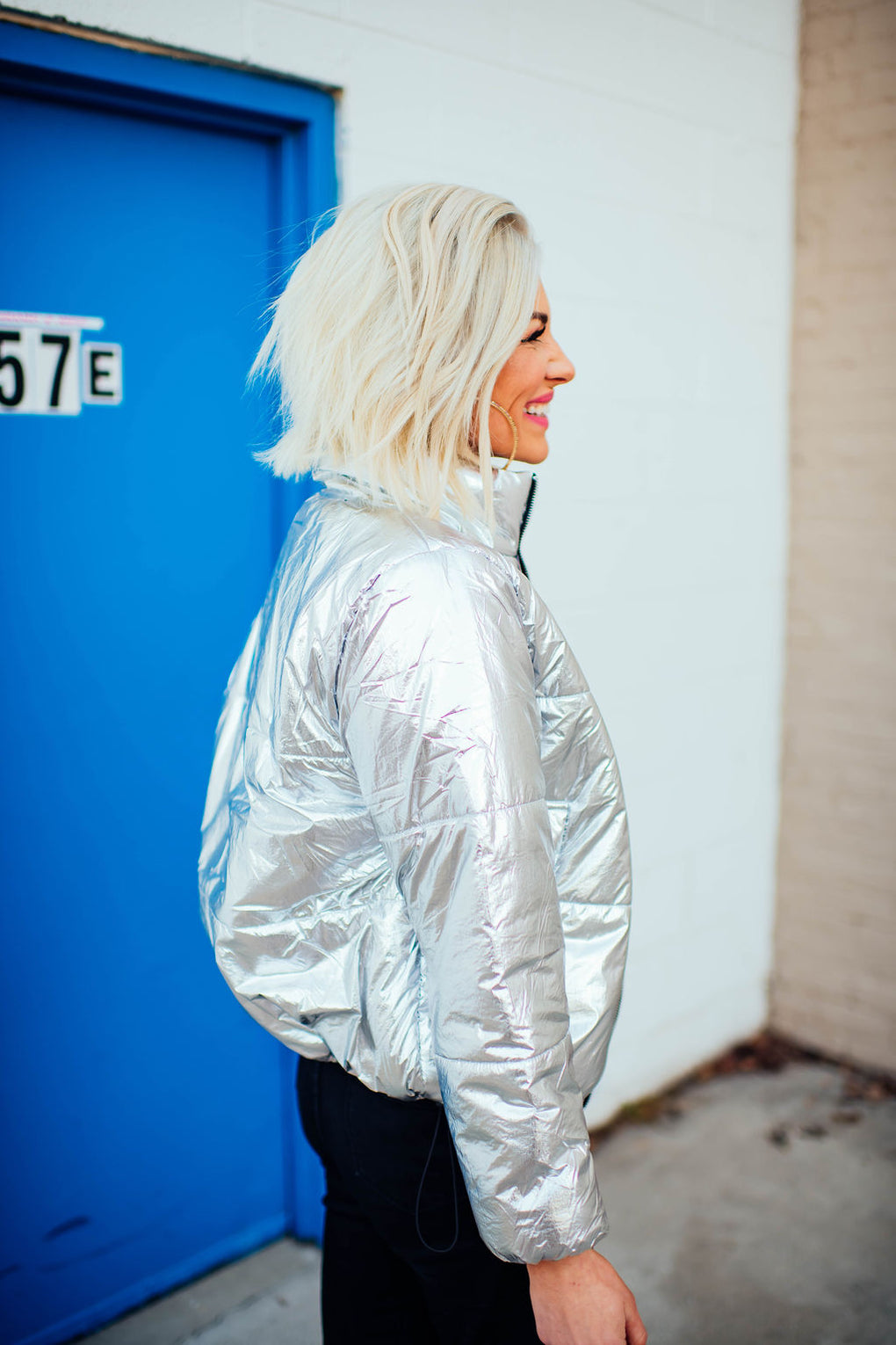 Magic Metallic Puffer Coat