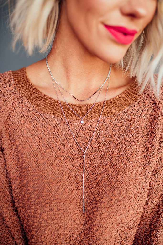 Minimal Silver Layered Necklace