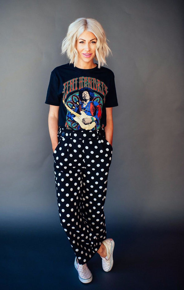 Lou Polka Dot Wide Leg Pants