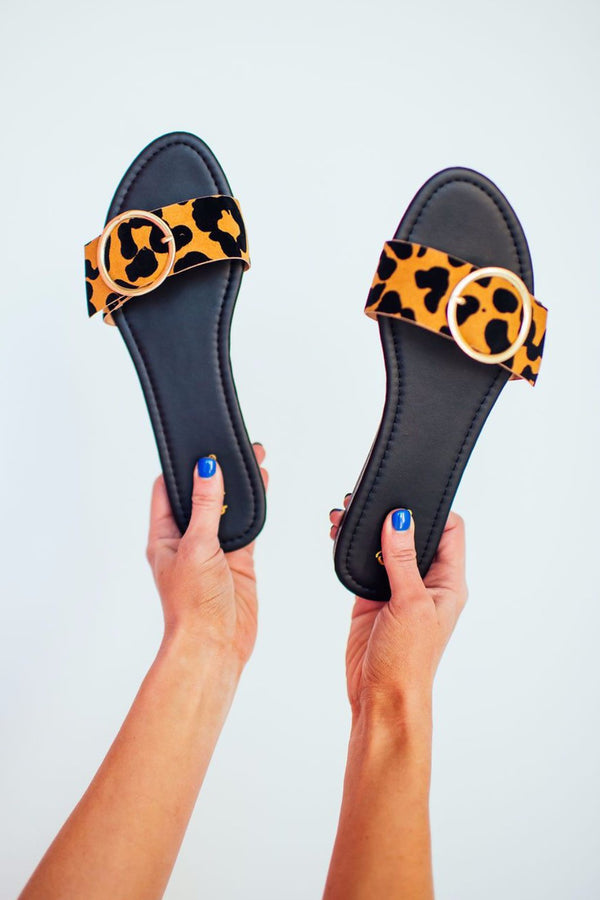 On Repeat Leopard Slides
