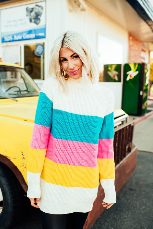 Candy Queen Striped Sweater