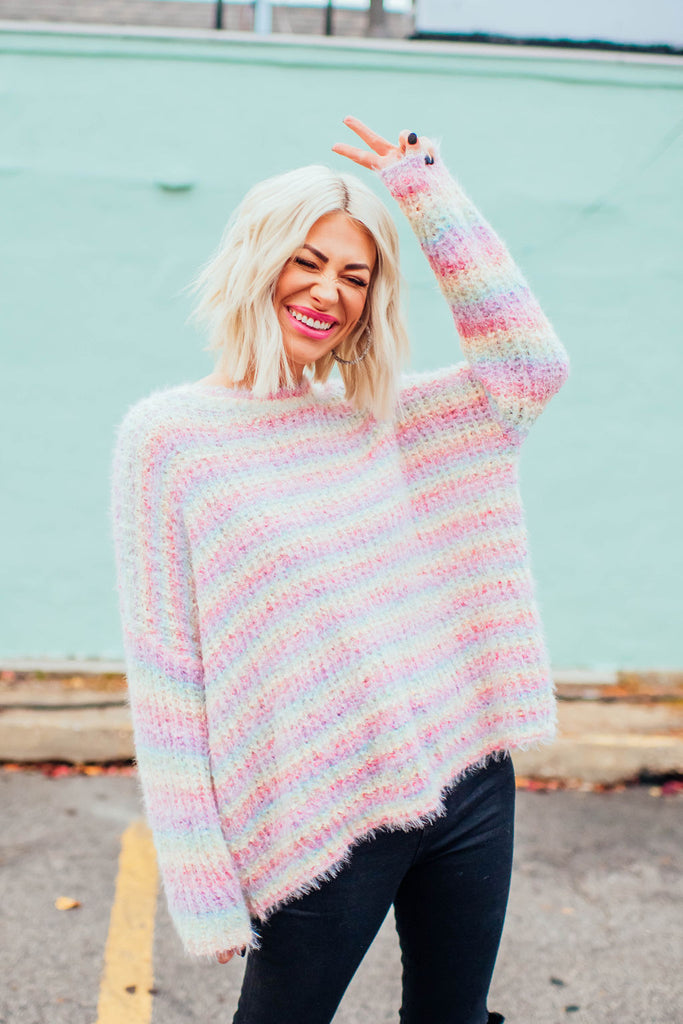Rainbow Sunset Knit
