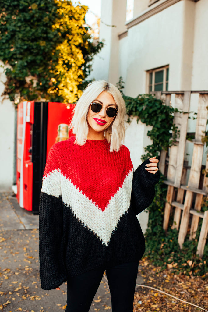 Romy Color Block Sweater